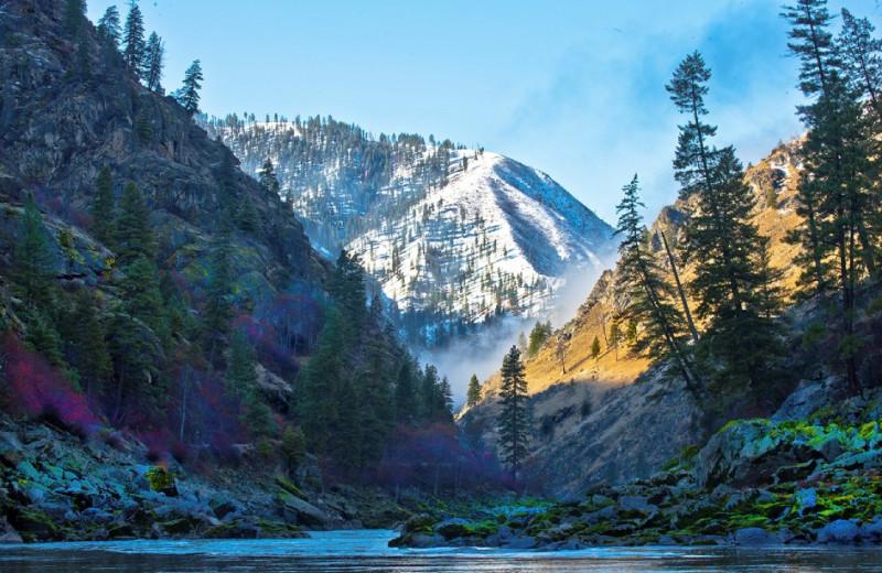 Mountains at Salmon River Tours.