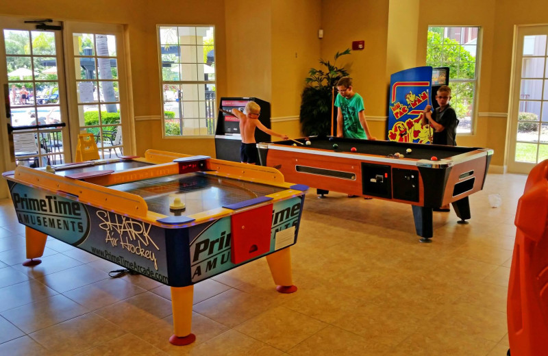Game room at Casiola Vacation Homes.
