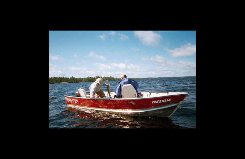 Boating at Stokes Bay Resort.