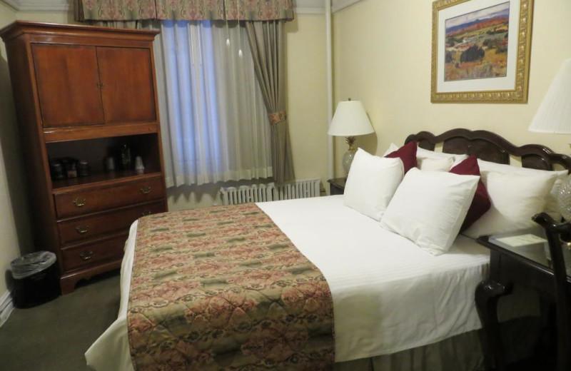 Guest room at Hotel San Carlos.