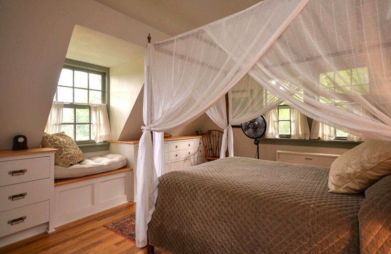 Rental bedroom at Finger Lakes Premiere Properties.