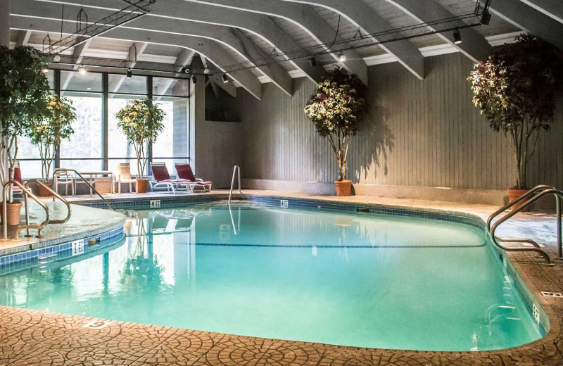 Indoor pool at The Woodlands.