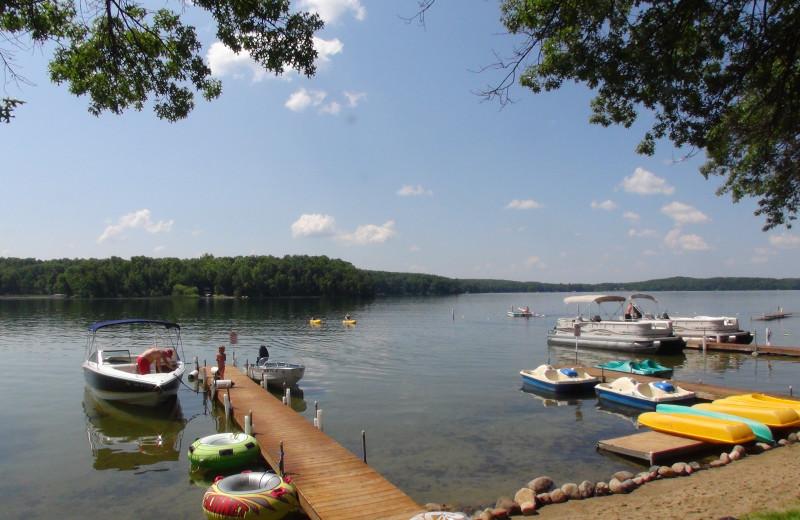 Lake view at Kavanaugh's Sylvan Lake Resort.