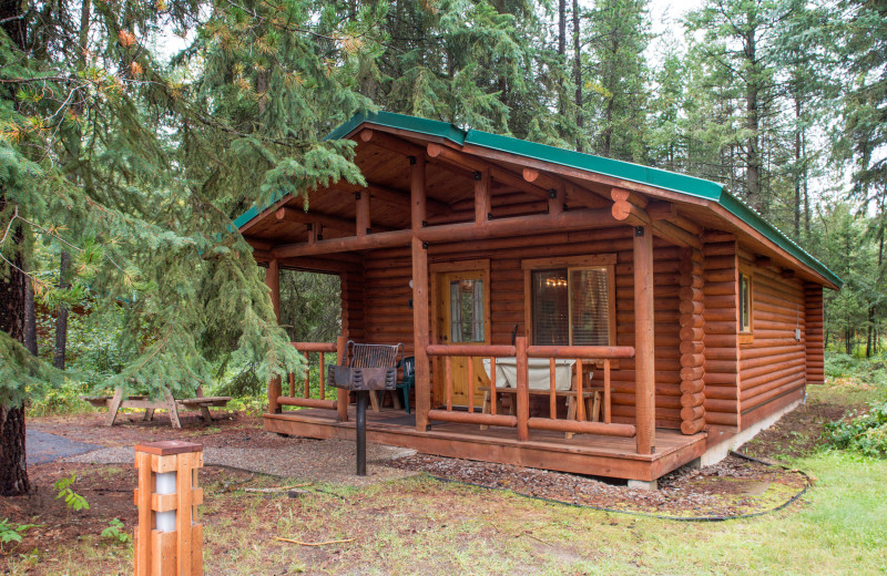 Cabin exterior at North Forty Resort.