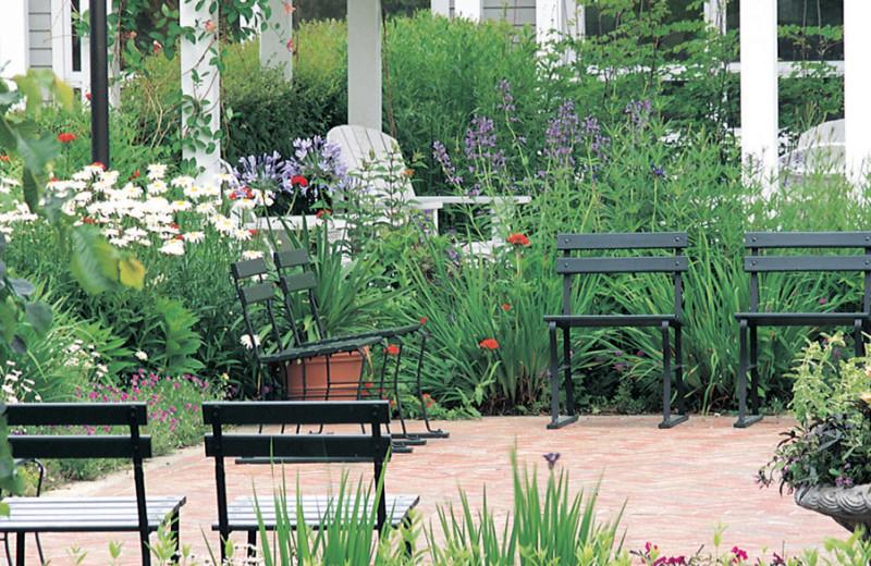 Garden patio at Canyon Ranch in Lenox.