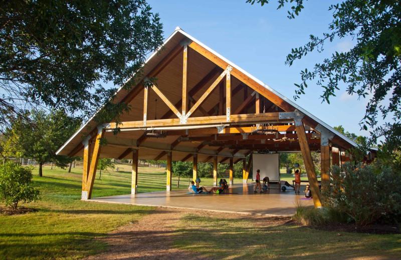 Yoga at Camp Balcones Spring.