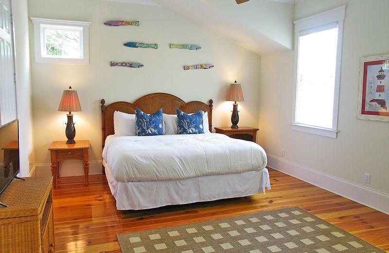Rental bedroom at Exclusive Properties - Isle of Palms.
