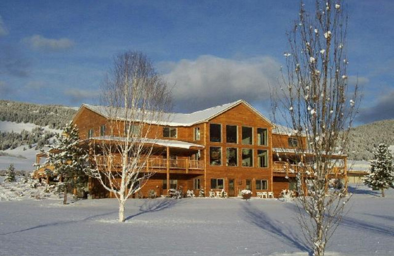 Winter time at Montana High Country Lodge.