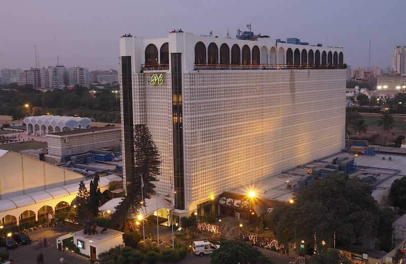 Exterior view of Pearl Continental Hotel.
