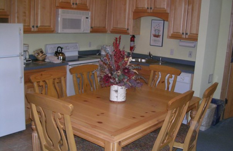 Full kitchen at Birchwood Lodge.
