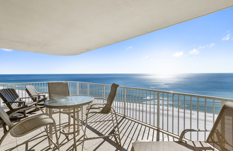 Rental balcony at Alabama Coastal Properties.
