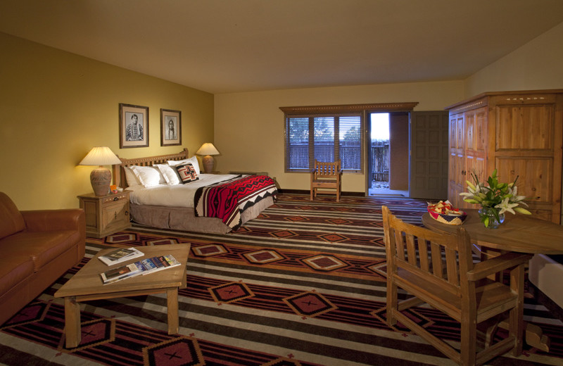 Guest suite at The Lodge at Santa Fe.