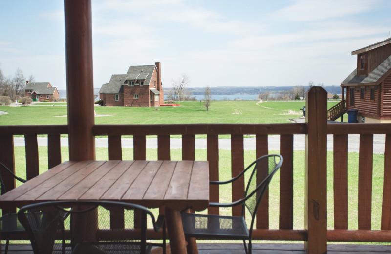 Cabin deck at Cobtree Vacation Rental Homes.
