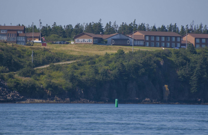 Exterior view of Brier Island Lodge and Resort.