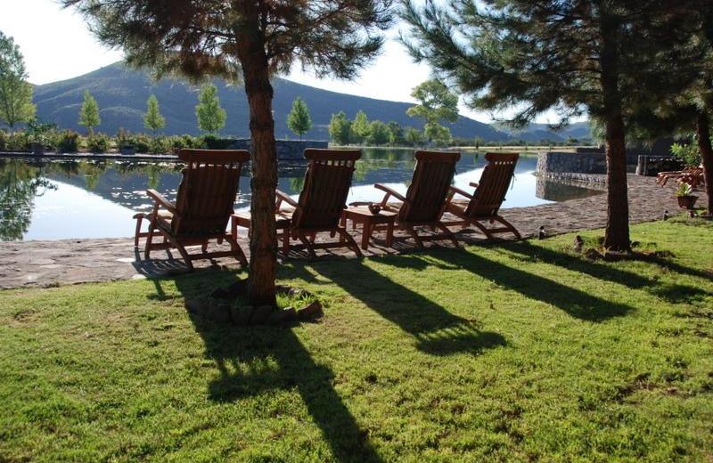 Relaxing at Cibolo Creek Ranch.