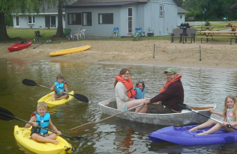 Water activity at Lake George Resort.