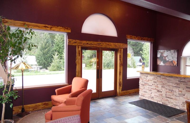 Lobby view at Packwood Lodge.