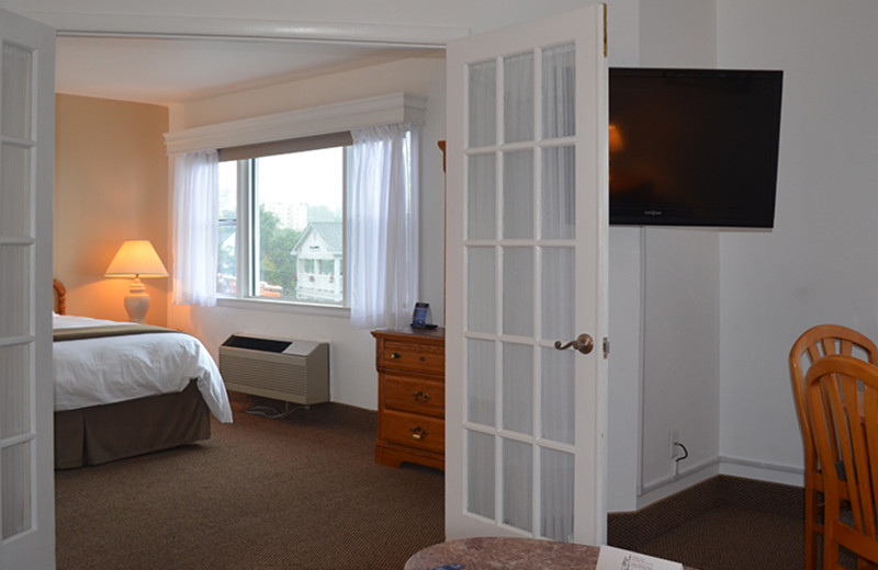 Guest suite at Inn on the Hudson.
