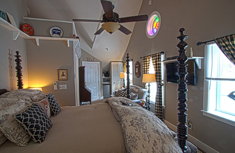 Guest room at Phineas Swann Bed and Breakfast.