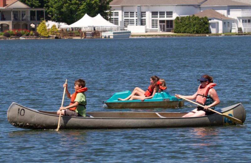 Canoeing at Lake Junaluska Conference & Retreat Center.