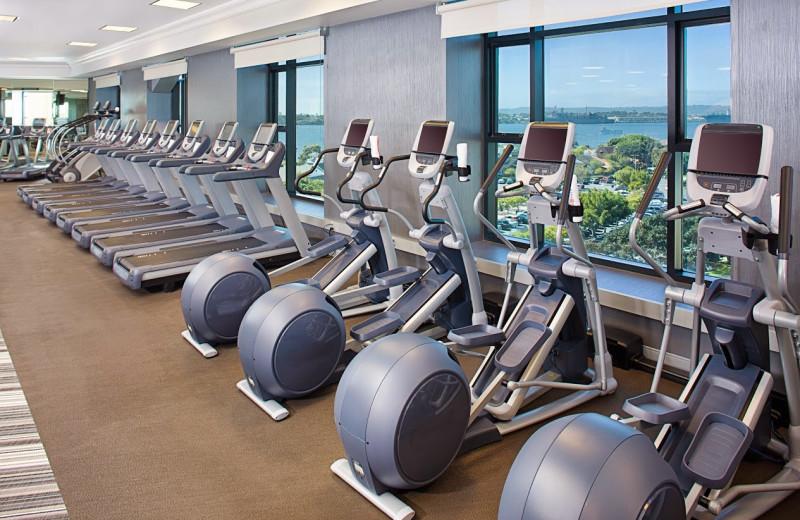 Fitness center at Manchester Grand Hyatt San Diego.
