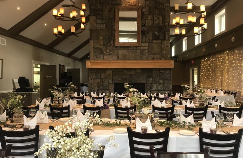 Wedding reception at Patterson Kaye Resort.