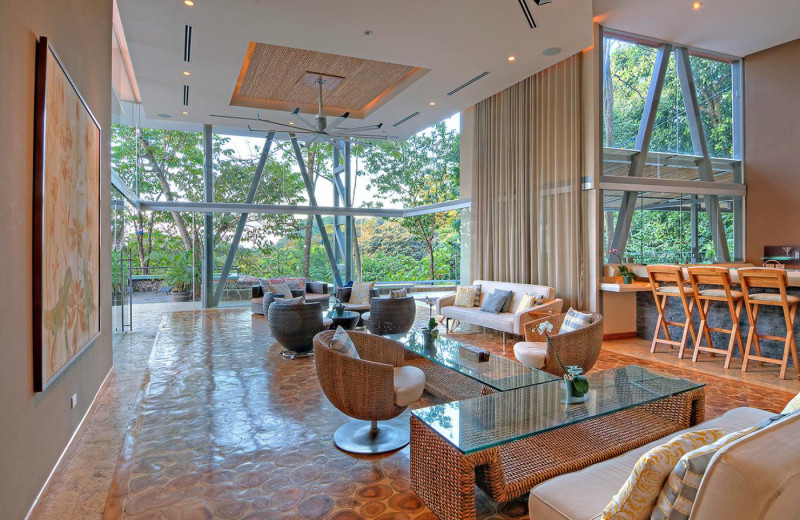 Rental living room at Costa Rica Luxury Lifestyle.