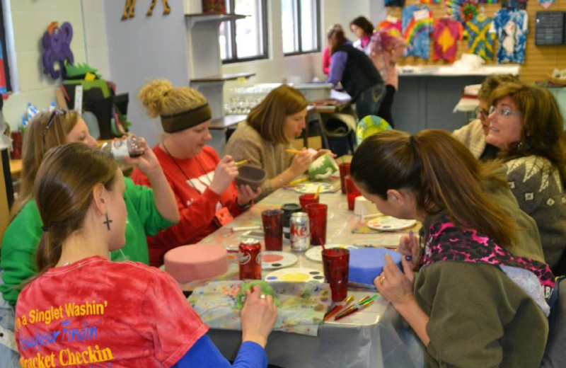 Arts and crafts at YMCA Trout Lodge & Camp Lakewood.