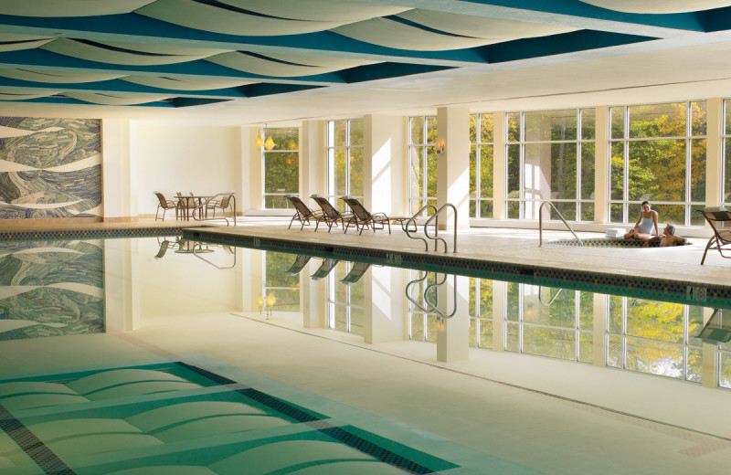 Indoor pool at Canyon Ranch in Lenox.