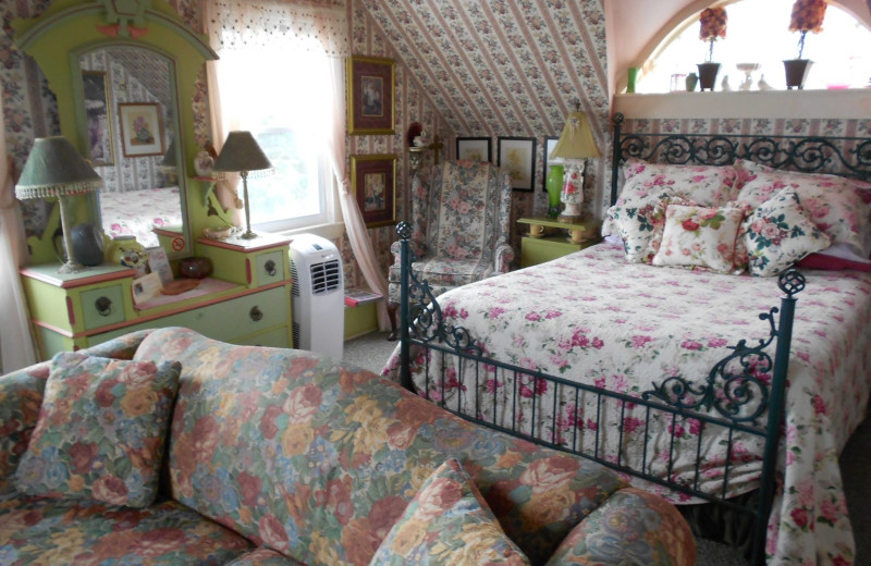 Guest room at Rockmere Lodge.