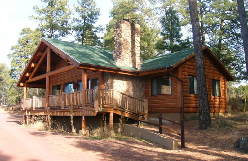 Cabin exterior at Lake Of The Woods.