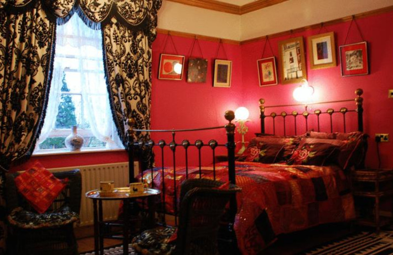 Guest room at Priory House Hotel.