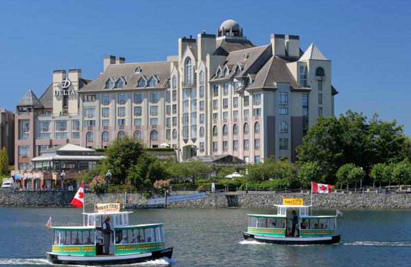 Exterior view of Delta Victoria Ocean Pointe Resort and Spa.
