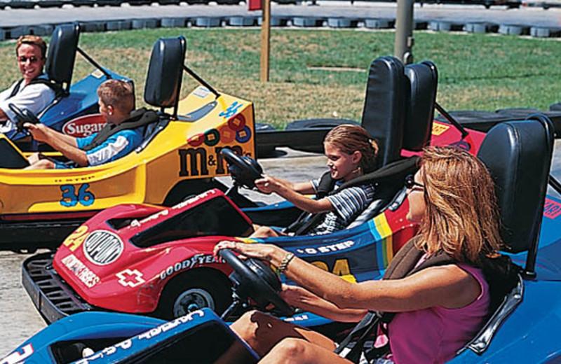 Go carts at Cedar Point Resort.