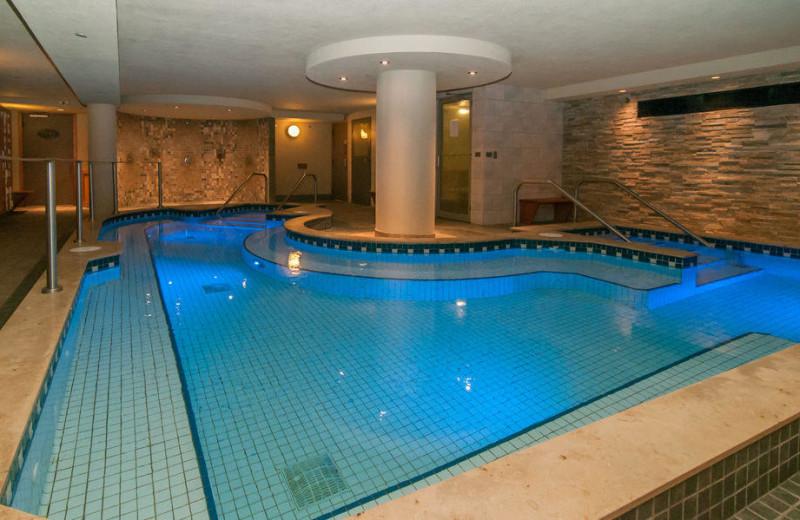 Indoor pool at Banff Caribou Lodge & Spa.