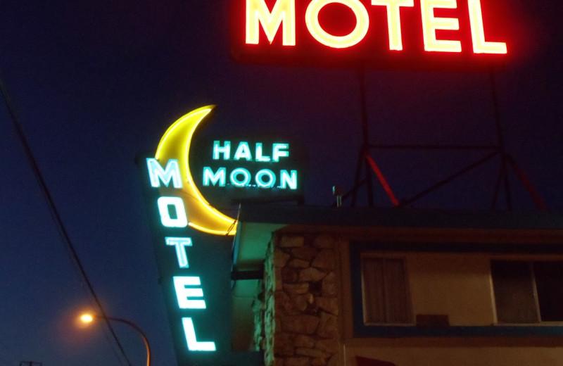 Exterior view of Half Moon Motel.