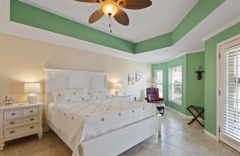 Rental bedroom at Saint Augustine Beach Vacation Rentals.