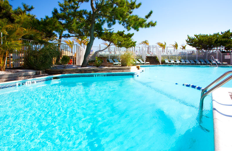 Outdoor pool at Holiday Inn Oceanfront Ocean City.