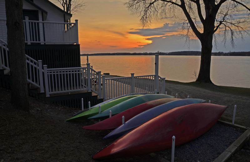 Sunset at Sandbanks Summer Village Cottage Resort.