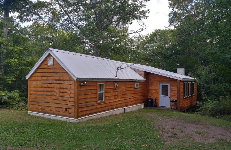 Cabin exterior at Wilderness Resort.
