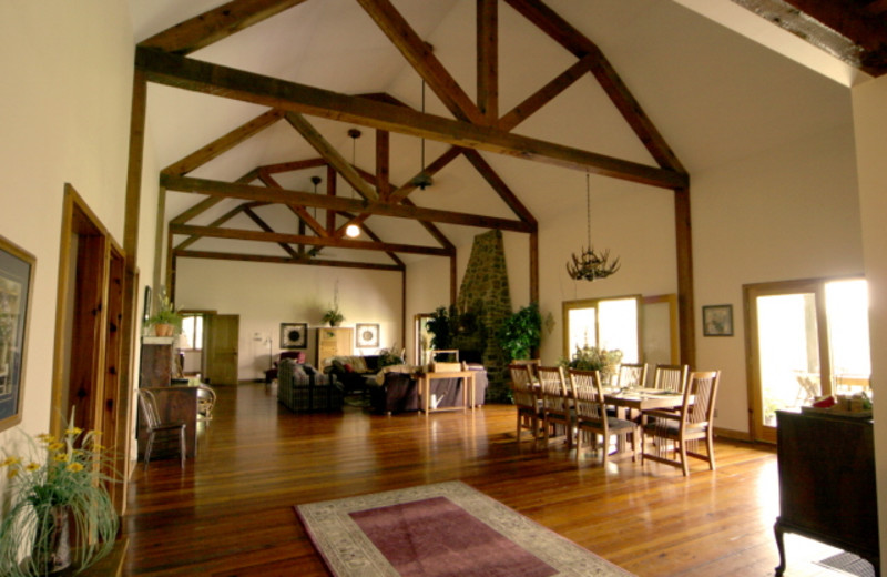 Lodge lobby at Mulberry Mountain Lodging & Events.