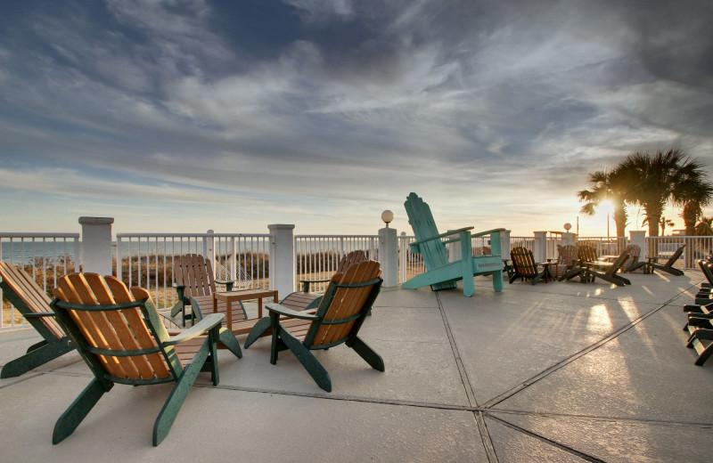 Patio at Islander Hotel & Resort.