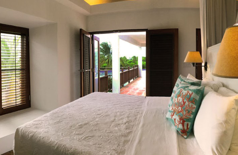 Guest room at Twin Palm Villas.