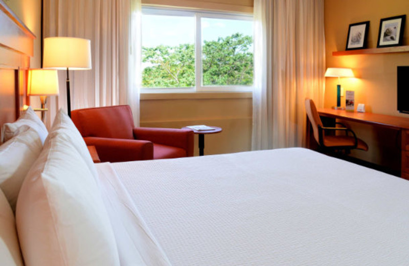 Guest room at Courtyard By Marriott Cancun.
