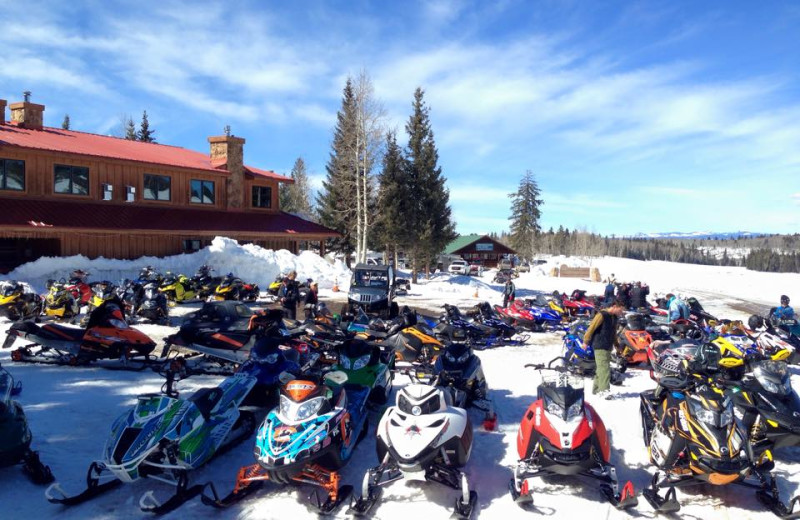 Snowmobiling at Arrowhead Mountain Lodge.