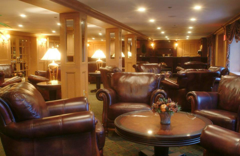 Lounge area at The Inn at Pocono Manor.