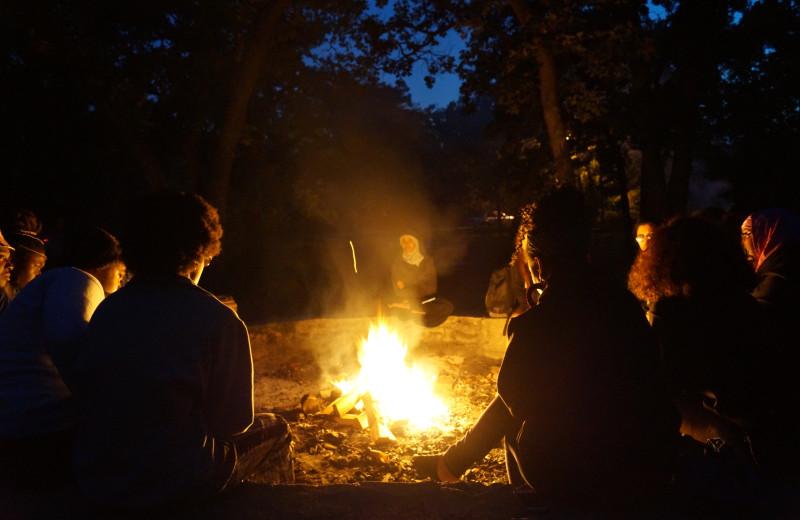 Bonfire at Wilderness Resort Villas.