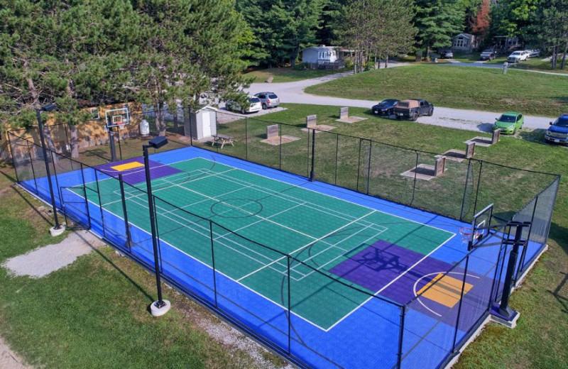 Tennis court at Great Blue Resorts- Shamrock Bay Resort.