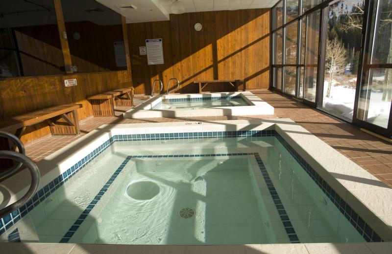 Hot tub at Alta Lodge.