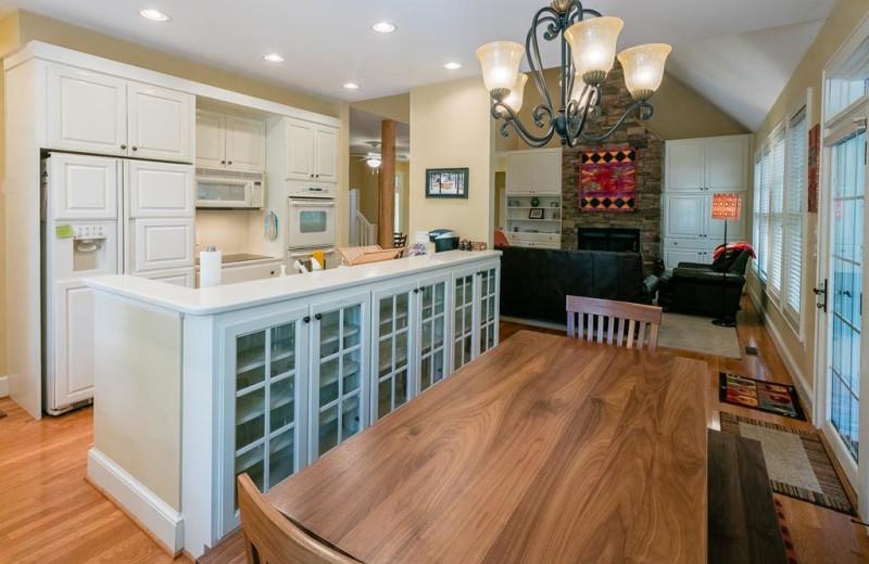 Rental kitchen at Foscoe Rentals.